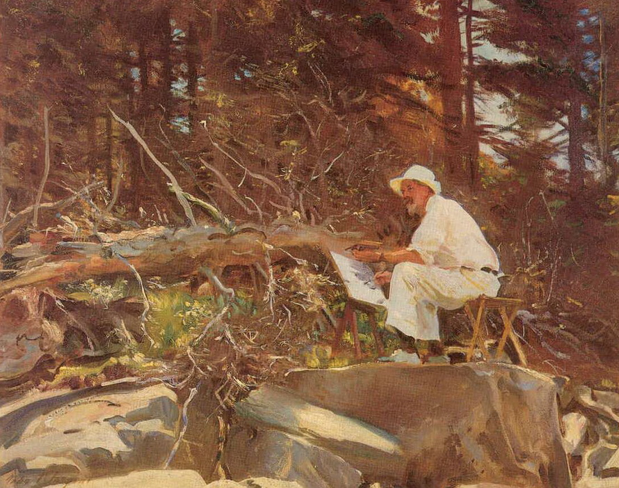 John Singer Sargent painting in Maine(1920s?)