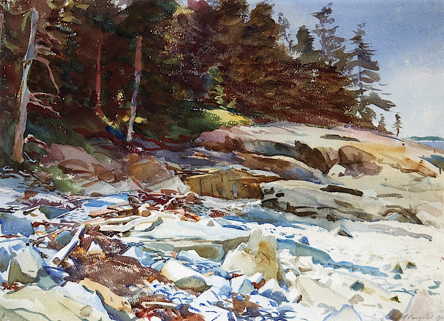 John Singer Sargent painting from one of his visits toMaine