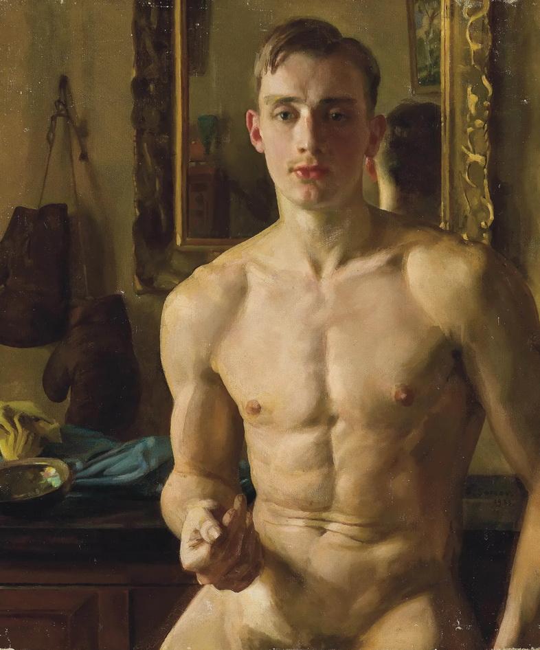 """Konstantin Somov, """"The Boxer"""",1933"""