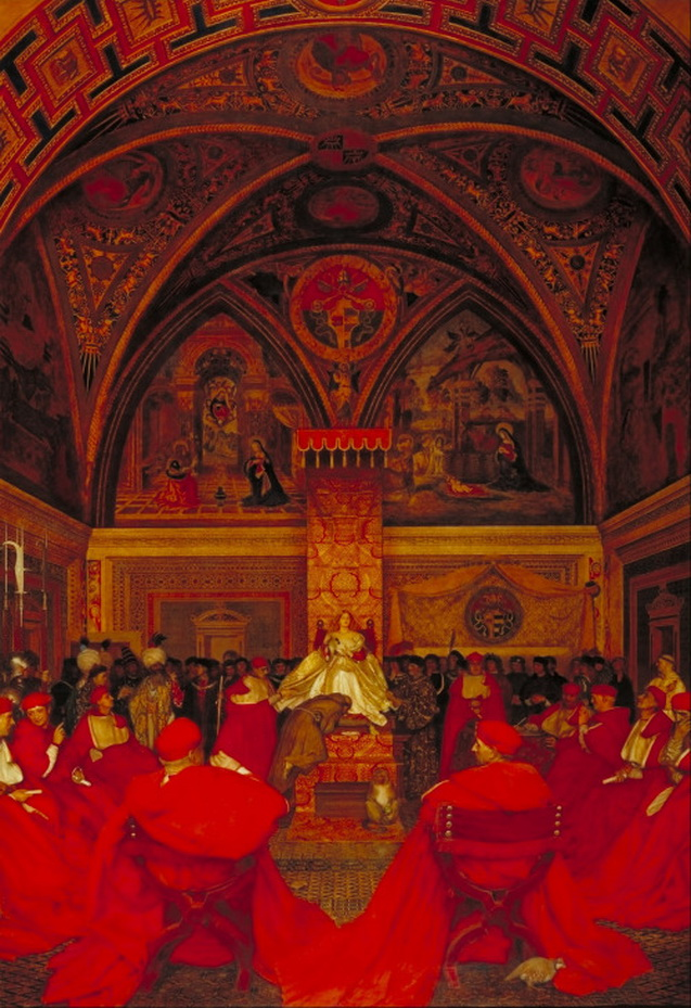"""""""Lucretia Borgia Reigns in the Vatican in the Absence of Pope Alexander VI"""" by Frank CadoganCowper"""
