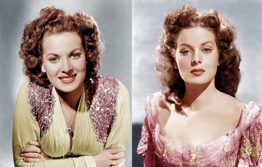 Irish-American actress Maureen O'Hara,1940s