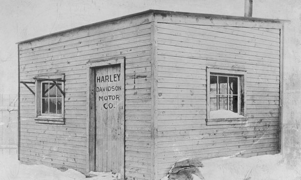The first Harley-Davidson motorcyclefactory