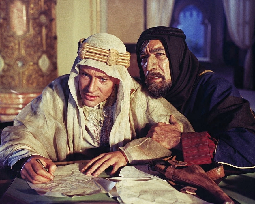 """Peter O'Toole and Anthony Quinn in """"Lawrence ofArabia"""""""