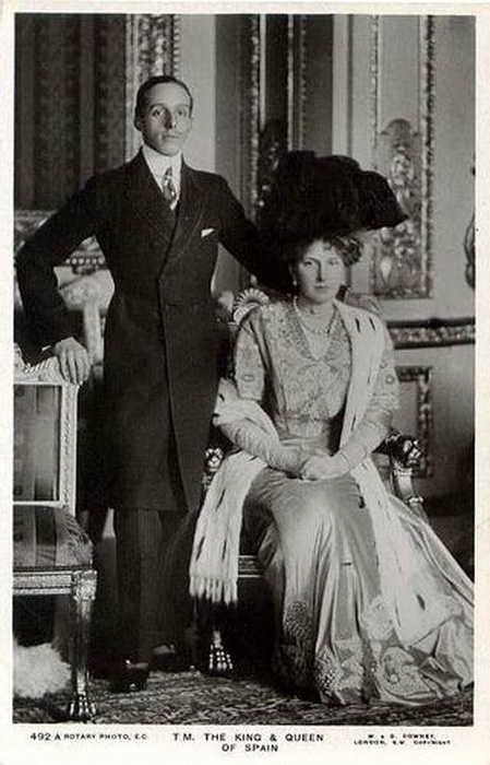 King Alfonso XIII and Queen Victoria-Eugenie ofSpain