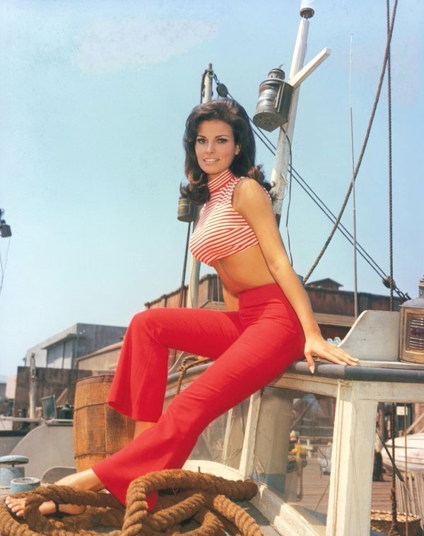 Raquel Welch on aboat