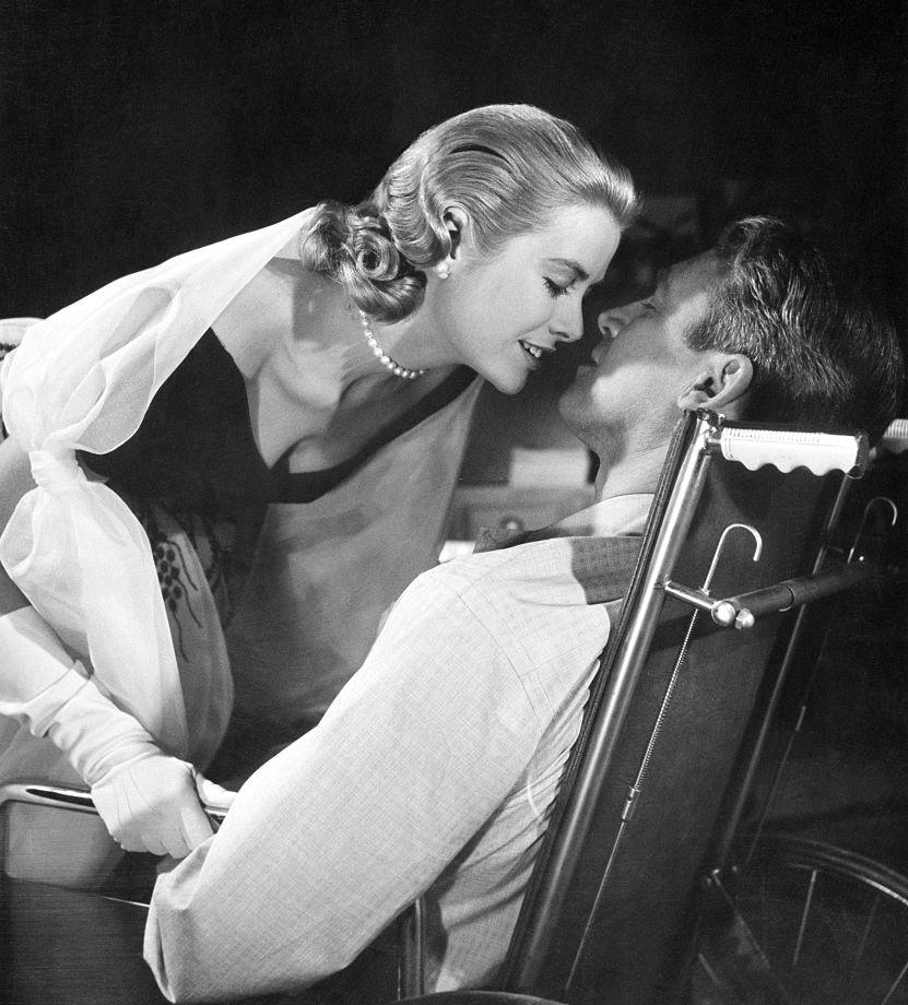 """Grace Kelly and James Stewart in """"RearWindow"""""""