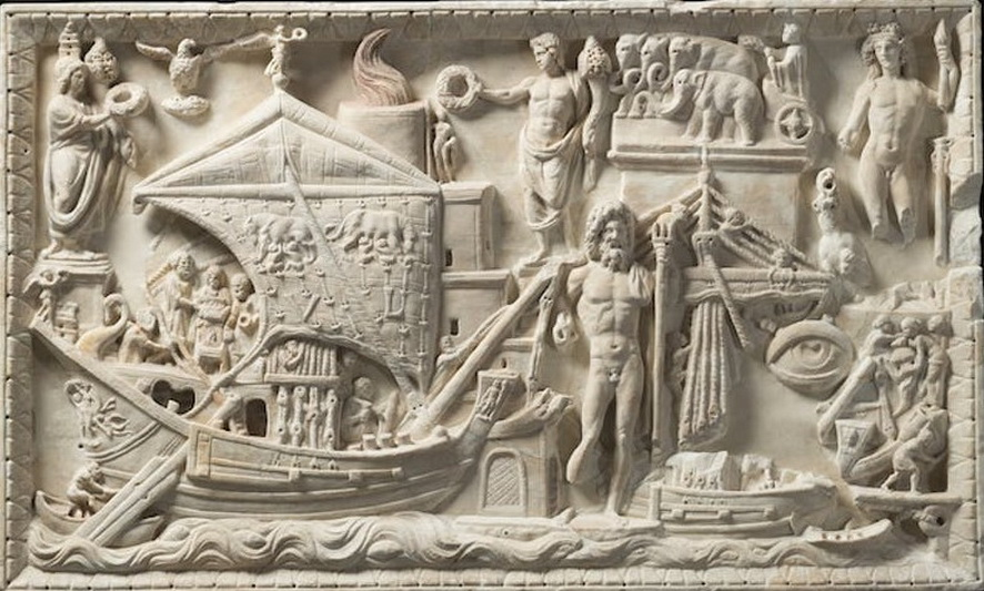 Detail of a relief at Palazzo Caffarelli,Rome