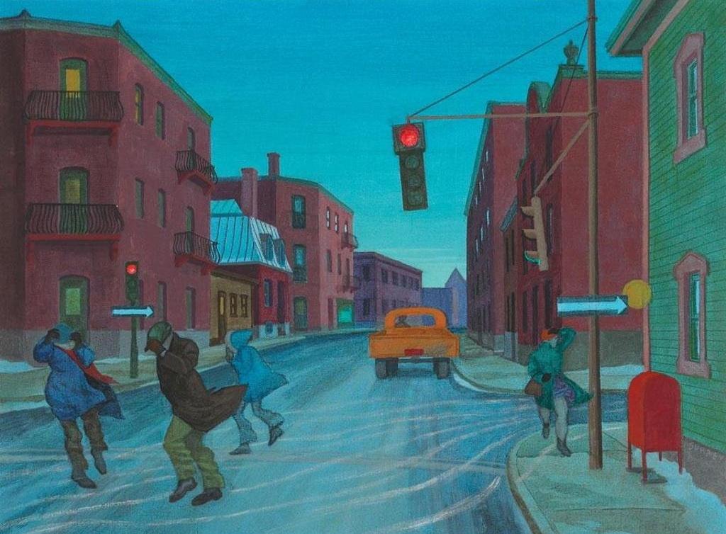 """""""Rue Saint-Antoine, Montréal"""" par Philip Surrey,1970"""