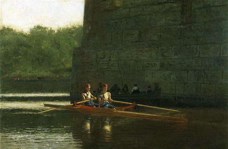 """""""The Oarsmen"""", by Thomas Eakins,1874"""