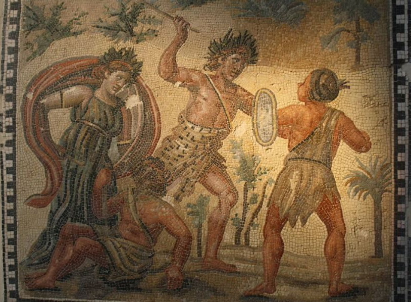 Ancient Roman WarriorFresco
