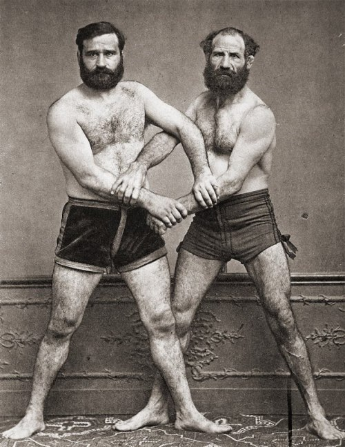 French wrestlers, 1890s