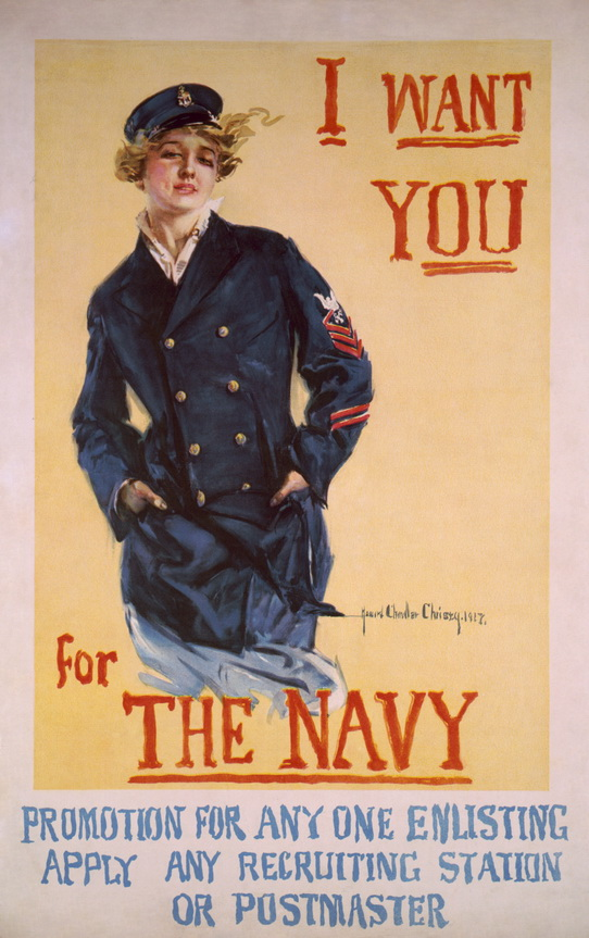 US Navy recruitment poster, WWI,1917