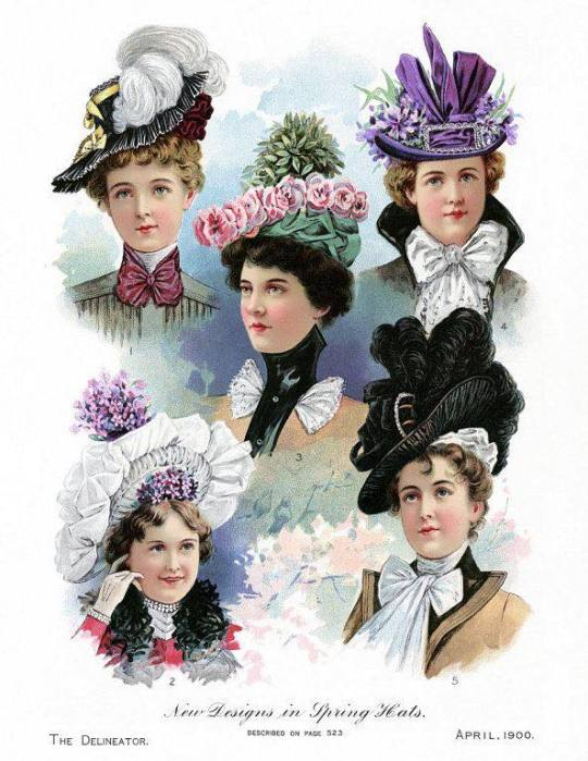 New Designs in Spring Hats,1900