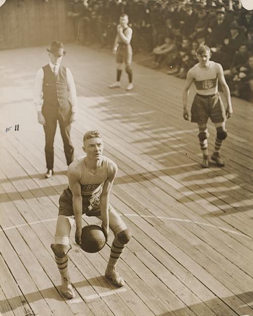 Vintage basketball player