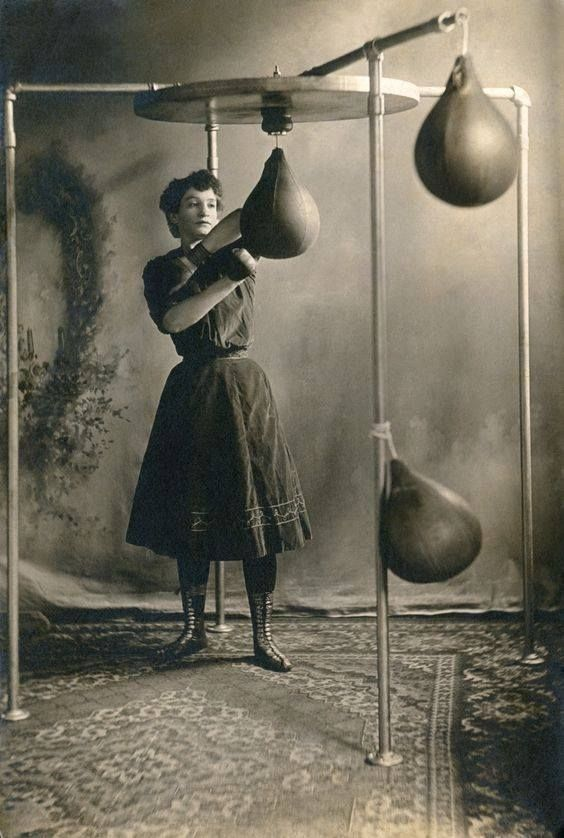 Vintage female boxer