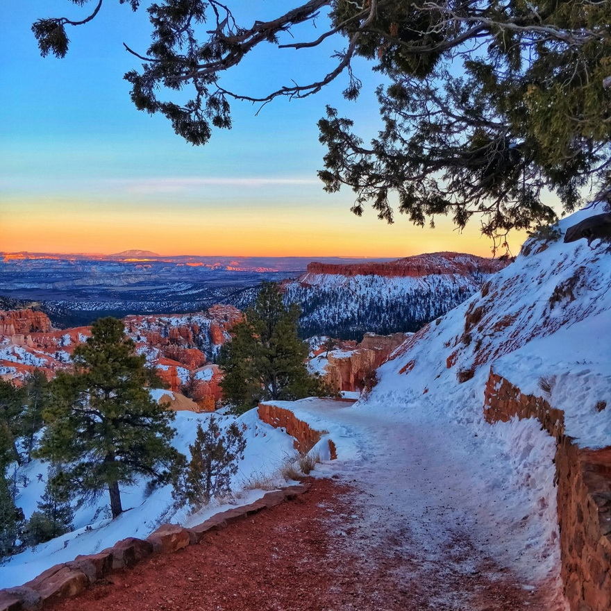 Bryce Canyon, Utah, inwinter