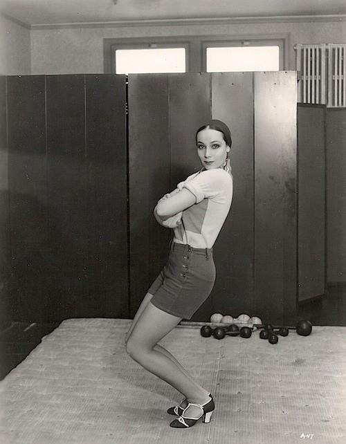Dolores Del Rio at the gym (in heels!),1920s
