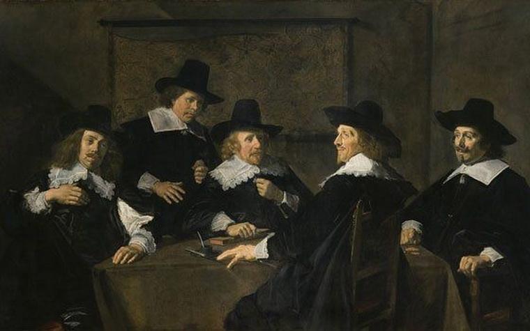 """""""Regents of the St. Elisabeth's Hospital, Haarlem"""" by Frans Hals, Netherlands,1641"""