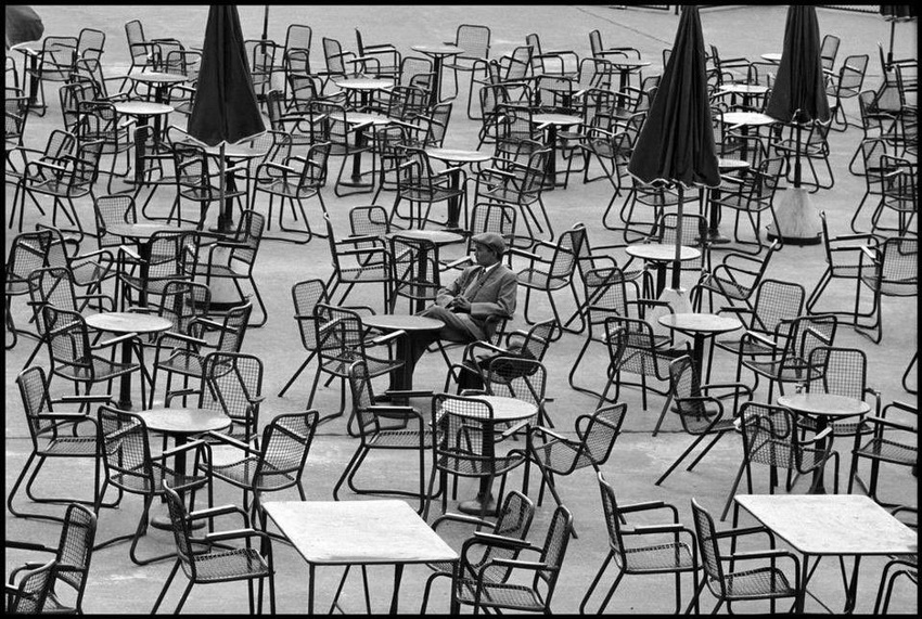 """""""Waiting at the Airport"""", Amsterdam, by Leonard Freed,1964"""