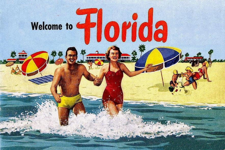 Florida postcard, 1940s