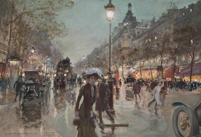 Painting by Georges Stein, Paris