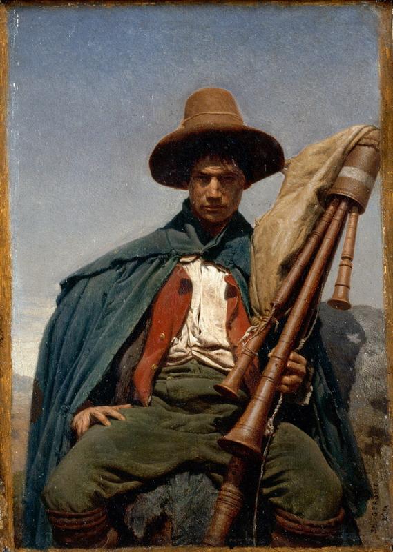 """Jean-Léon Gérôme, """"Pifferaro"""", 1856"""