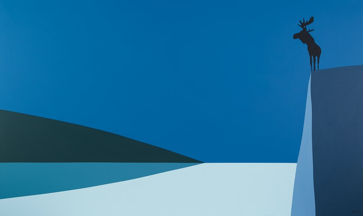 Lookout (Moose Proud) by Charles Pachter, Canada,2015