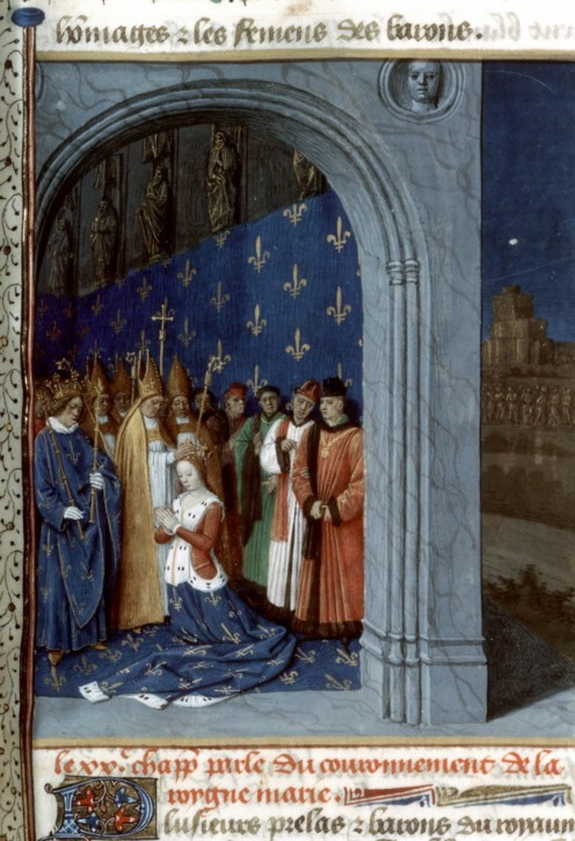 Maria of Brabant, Queen of France, at her coronation,1275