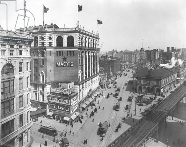 The original Macy's and Herald Square, NYC, 1905
