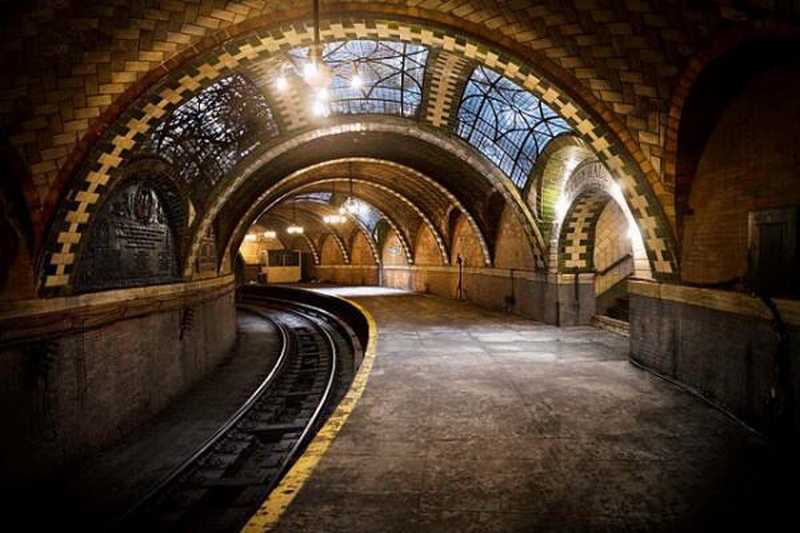 Abandoned subway station near city hall, NYC
