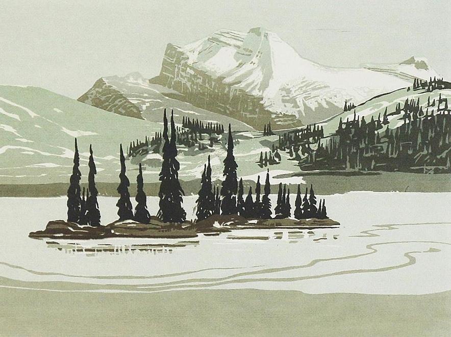 """""""Rock Isle Lake, Banff"""" by George Weber, Canada,1969"""