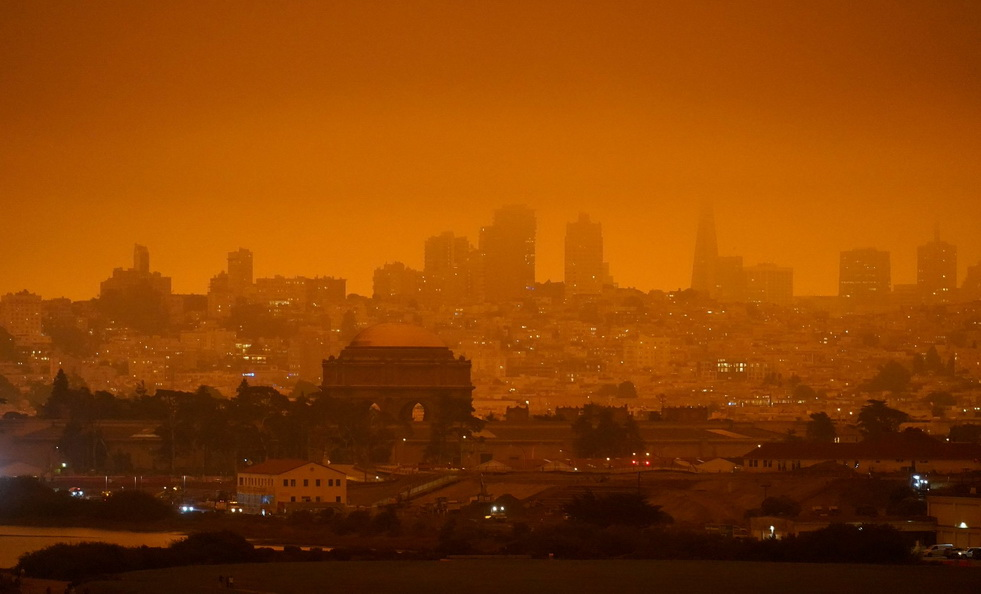 San Francisco during the 2020wildfires
