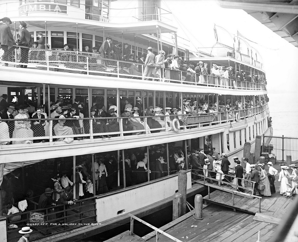 Off on a river boat excursion, circa 1905