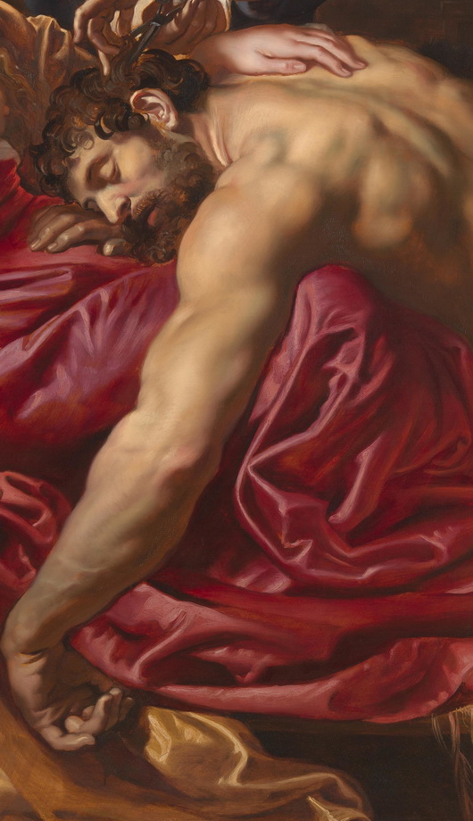 "Detail from Peter Paul Rubens' ""Samson and Delilah"""