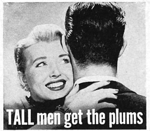 Tall men get theplums!