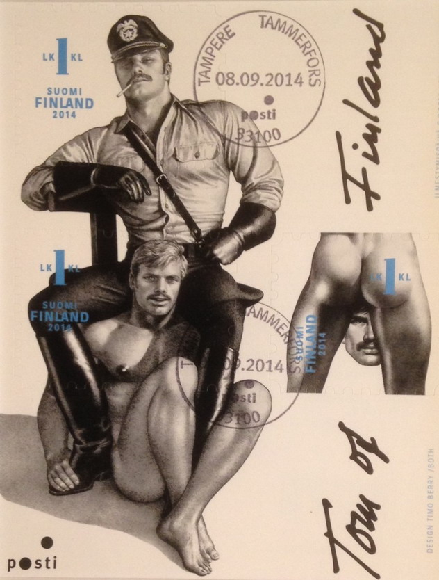 Tom of Finland postage stamps issued by the Finnish government,2014