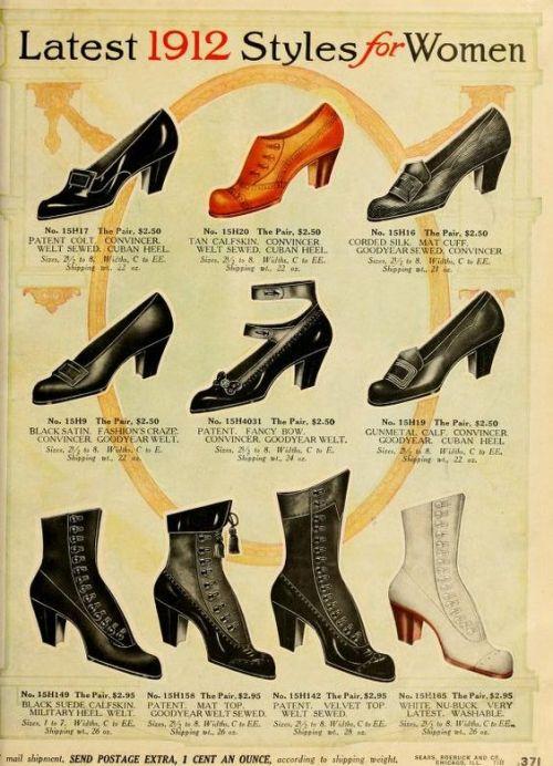 Women's shoes, 1912
