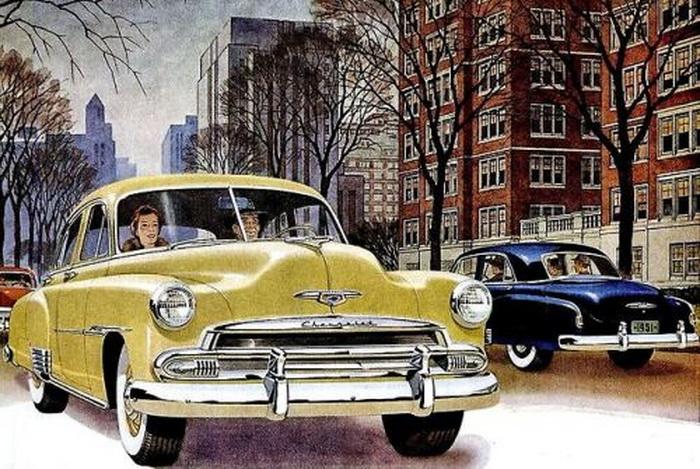 Illustration from a 1950 Chevroletad