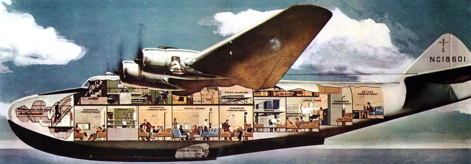 Clipper cross-section, 1930s