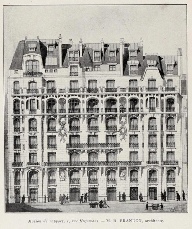 Plans for an apartment building, Paris,1800s