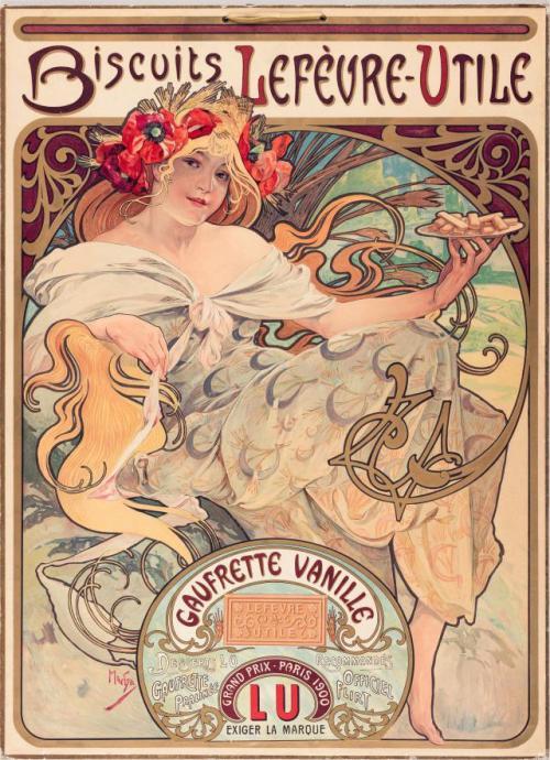 Art Nouveau advertisement, Paris, circa1905