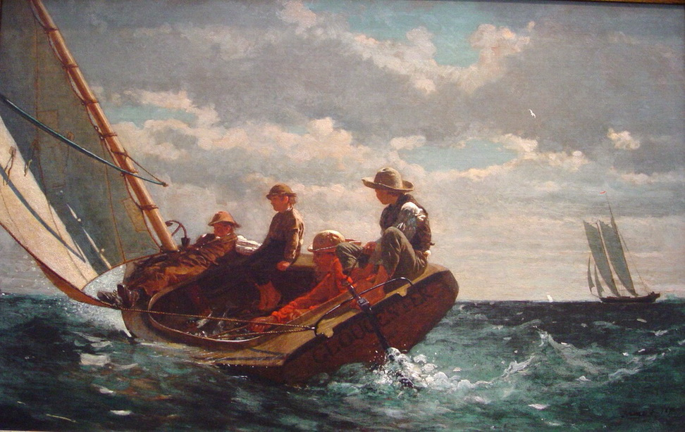"""""""Breezing Up"""" by WinslowHomer"""
