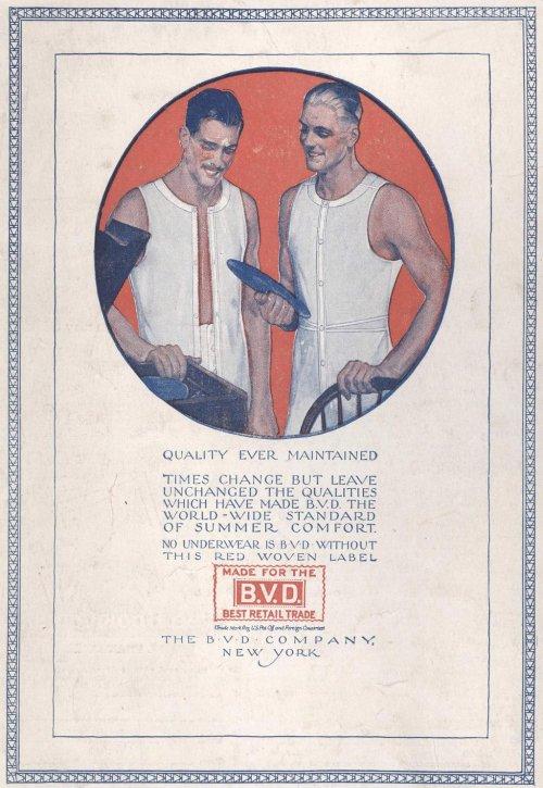 BVD Underwear ad,1920s