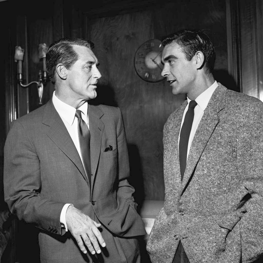 Cary Grant and Sean Connery,1957