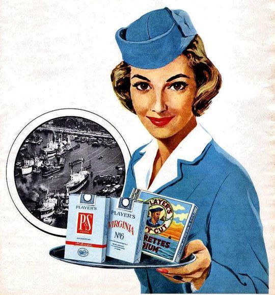 Player's cigarette ad, Canada,1950s