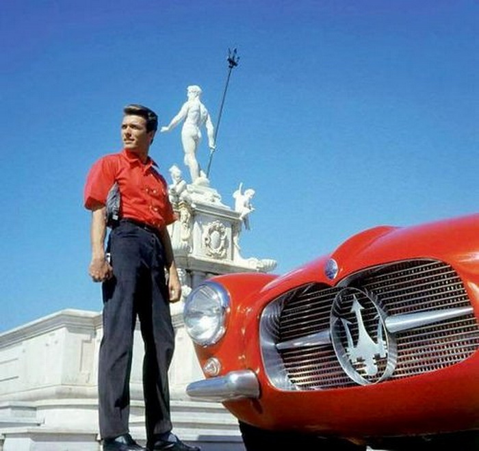 Clint Eastwood with a Maserati inItaly