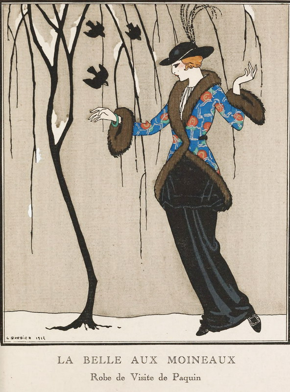 Fashion illustration by George Barbier,1912