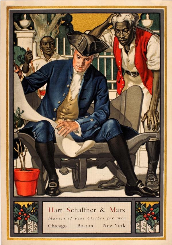 Samuel Nelson Abbott illustration for Hart, Schaffner, & Marx,1910s