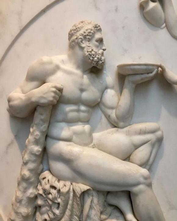 Hercules by Bertel Thorvaldsen, Danishsculptor.