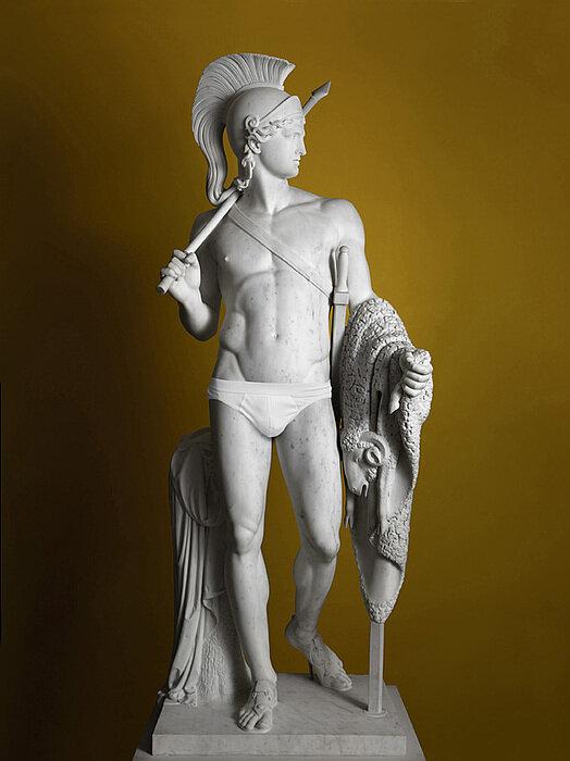 Statue of Jason, wearingunderwear